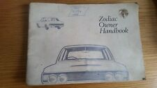 Zodiac Owner Handbook - Ford Motor Company 1969, same day dispatch, Tracked