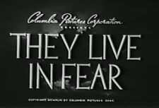 THEY LIVE IN FEAR (1944) DVD OTTO KRUGER, CLIFFORD SEVERN
