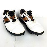 Footjoy Mens US 8M White Contour Series Opti Flex Golf Oxford Shoes 54130