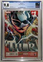 THOR #1 1:THOR (JANE FOSTER) CGC 9.8🔥Modern🔑 Valkyrie God of Thunder 2I6I19I25