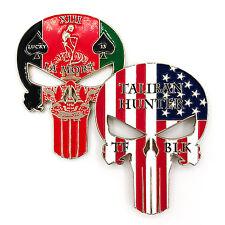 Punisher Task Force Black Lucky 13 Taliban Hunter Afghanistan Challenge Coin=