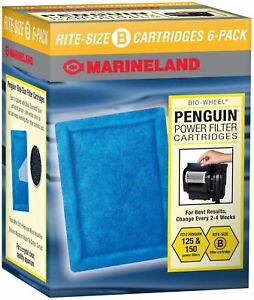 Marineland Penguin Rite-Size Cartridge B Bio-Wheel Power Filter 6 Pack