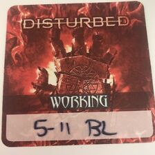Disturbed authentic concert tour collectible local crew backstage Pass New