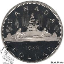Canada 1982 Nickel $1 Dollar Proof Heavy Cameo