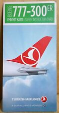 Airlines safety card - TURKISH AIRLINES B777-300ER