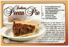 Postcard Recipe for Southern Pecan Pie