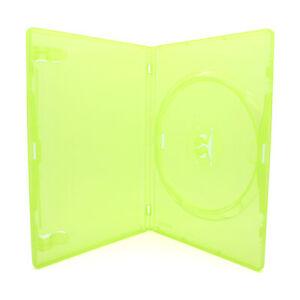 10 x 1 Fach AMARAY ORIGINAL XBOX 360 Hüllen für 1 CD / DVD / Blu-Ray Hülle Grün