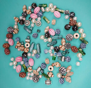 Assortment of Used Beads for Crafting or Jewellery Making