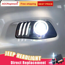 2Pcs For Jeep Cherokee Headlights assembly Bi-xenon Lens Projector LED DRL 14-18