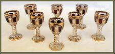 RARE LUDWIG MOSER 19TH CENTURY CABOCHON CUT RUBY GILT GLASSES  Weissweinglas