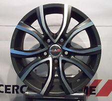 Kit 4 Cerchi in lega 16 Alfa romeo Giulietta 159 Fiat 500 X Croma Mak Nitro5 NAD