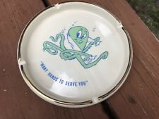 Vintage Ceramic Ashatray. Octopus Car Wash Ashtray Brand New. Octopus Mascot.