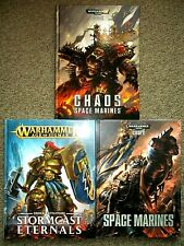 Warhammer Lot: Space Marine & Chaos Space Marines Codex, and Stormcast Eternals
