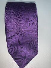 Recent Canali Dark Purple Paisley Silk Tie Made in Italy
