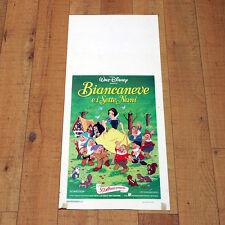 BIANCANEVE E I SETTE NANI locandina poster Snow White And The Seven Dwarfs T81