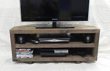 Rustic Chunky Corner TV Stand/Unit Handmade Solid Wood - Dark Oak