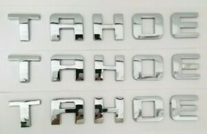 3PC C TAHOE FIT Chevy EMBLEM Chevrolet NAME TRUNK TAILGATE DOOR BADGE NAME DECAL