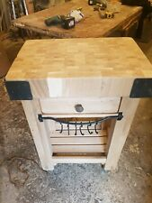 Solid oak butchers block