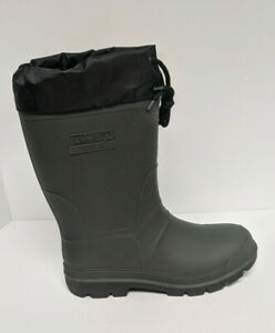Kamik Hunter Insulated Snow Boots, Dark Green, Men's 10 M