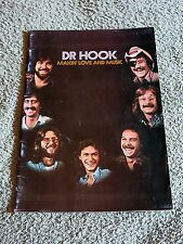 DR HOOK makin' love and music 1977 Tour Programme!
