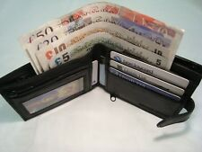 Leather Wallet With Large Zipped Coin Pocket With Card and Note Space