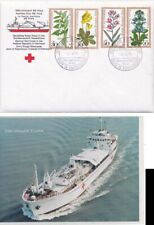 Germany  1979 German Red Cross with ppc of NS Flora Ship in Asian waters