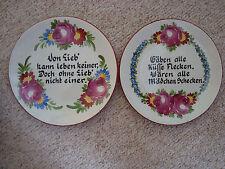 2 set Schale Teller Zierteller spruch handmalerei ges gesch 5969 unter nr 7255