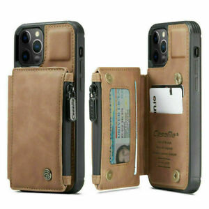 Zipper Card Pocket PU Leather Wallet Phone Cover Cases for Apple iPhone 7 8 Plus