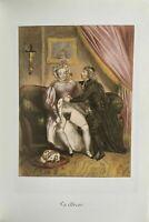 Erotic Dog Sex Penis Breast Vagina Erotik Antique Love Art Lithography 1840