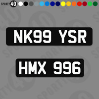 Vinyl Number / Show / Fun Plate Sticker - BLACK OBLONG - Car Plates  2108-0219B