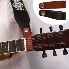 Melody PU Leather Strap Headstock Tie Button Hook for Acoustic Electric Guitar