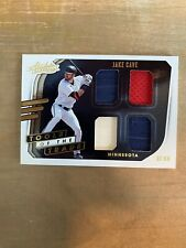 2021 Absolute Tools of the Trade Quad Swatches #12 Jake Cave 3 Jersey 1 Bat