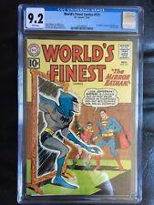 WORLD'S FINEST COMICS #121 CGC NM- 9.2; White pg!; Green Arrow! scarce!