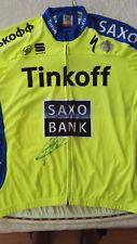 Alberto Contador signed 2015 Tinkoff Saxo Cycling Jersey