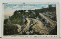 "TN The ""W"" the Road to Walden's Ridge 1918 Chatanooga to Edenville Postcard M2"