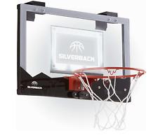 "Silverback Led Light-Up Over the Door 18"" Mini Basketball Hoop & Mini Ball"