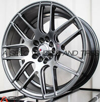 17X9 F1R F18 WHEEL 5x100/114.3 +25MM HYPER BLACK RIM FITS HONDA ACCORD CIVIC