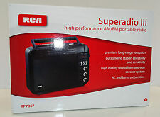 RCA SuperRadio III  RP7887  High Performance AM/FM Portable Radio    New in Box