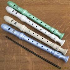 DESCANT SCHOOL RECORDER IN SOFT PLASTIC BAG CREAM GREEN OR WHITE
