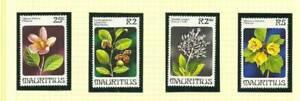 MAURITIUS SG605-608 FLOWERS MNH