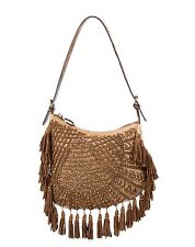 NEW *****LIMITED EDITION*** FENDI Brown Suede Tassel Fringe OYSTER Handbag