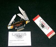 Camillus 78 Sword Brand Knife Handmade Indian Stag Handles W/Packaging,Papers