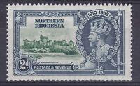 DB374) Northern Rhodesia 1935 Jubilee 2d green & indigo SG 19 with varieties