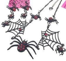 Fashion  jewelry Betsey Johnson Hot women gift spider rhinestone necklace set