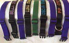 Collares de perro personalizado con anillo en D Control Deslizante & Broches en un color de su elección