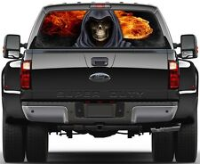 Grim Reaper Fire Flame 1  Rear Window Graphic Decal Sticker Tint  Truck SUV Van