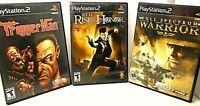 3 PLAYSTATION 2 GAMES Jet Li Rise to Honor, Full Spectrum Warrior & Trigger Man