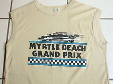 Vintage Myrtle Beach Grand Prix South Carolina Tank Top Sleeveless T Shirt M