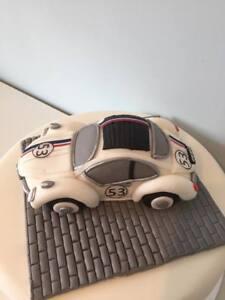 Edible LARGE HERBIE VOLKSWAGON BEETLE CAR  Cake Decoration Cake Topper