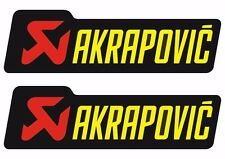Akrapovic Decals Stickers for Exhaust Graphic Factory Set Vinyl Adhesive Black
